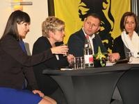 Yoleen Van Camp, Elke Sleurs, Wouter Patho en Kathleen Krekels
